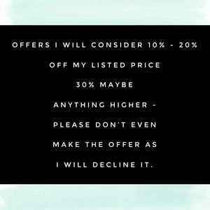 🌟REASONABLE OFFERS ONLY!!